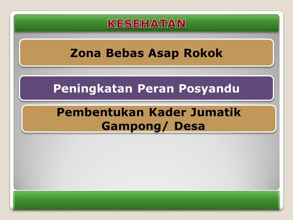 Zona Bebas Asap Rokok Peningkatan Peran Posyandu Pembentukan Kader Jumatik Gampong/ Desa