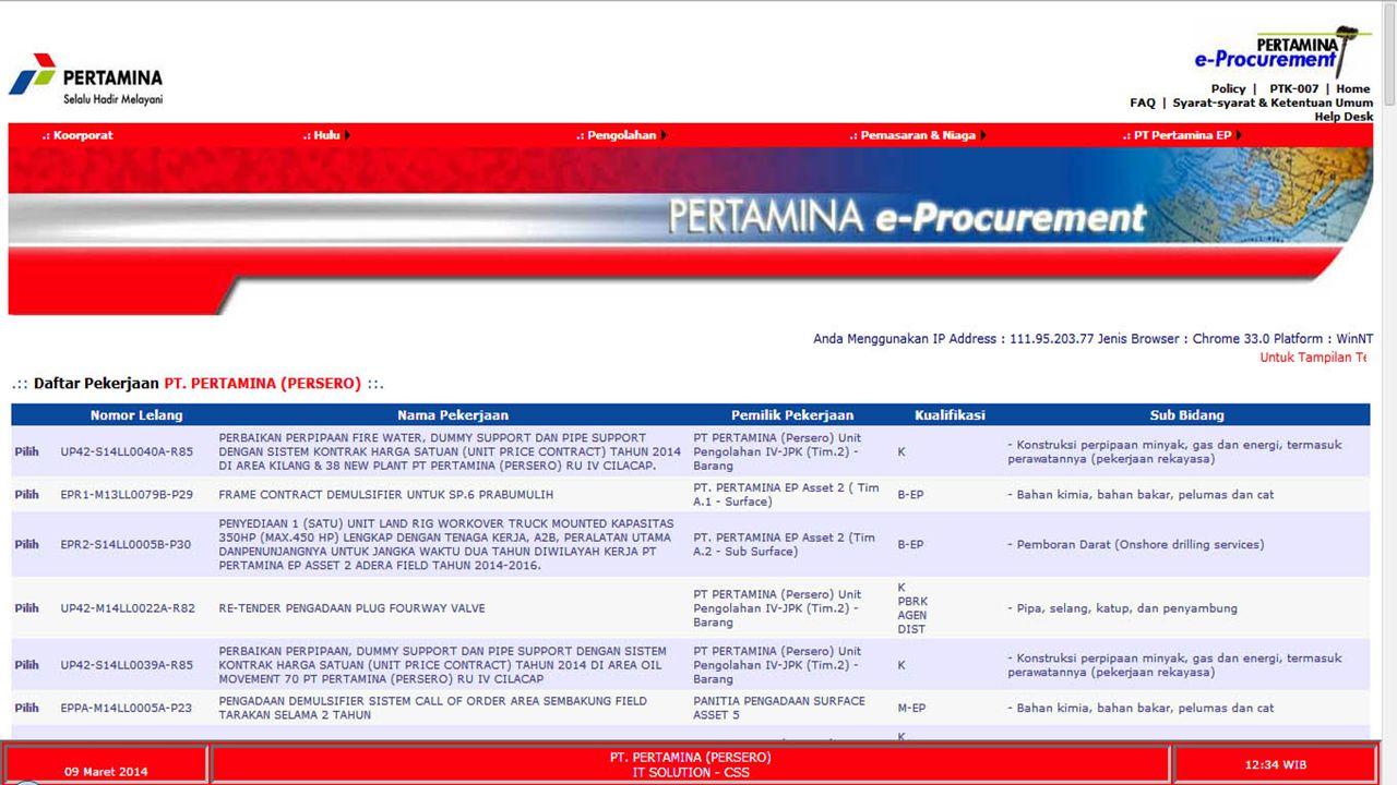 Contoh e-Procurement