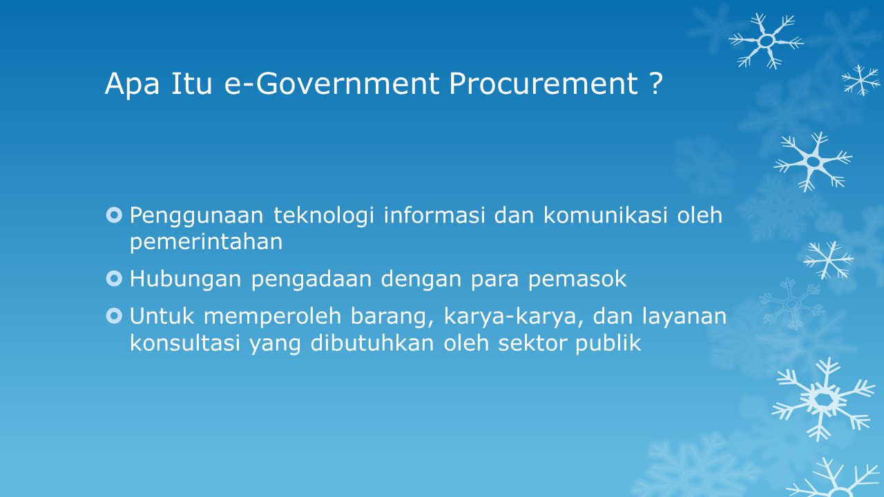 Apa Itu e-Government Procurement .