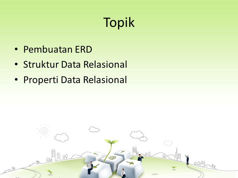 Topik Pembuatan ERD Struktur Data Relasional Properti Data Relasional