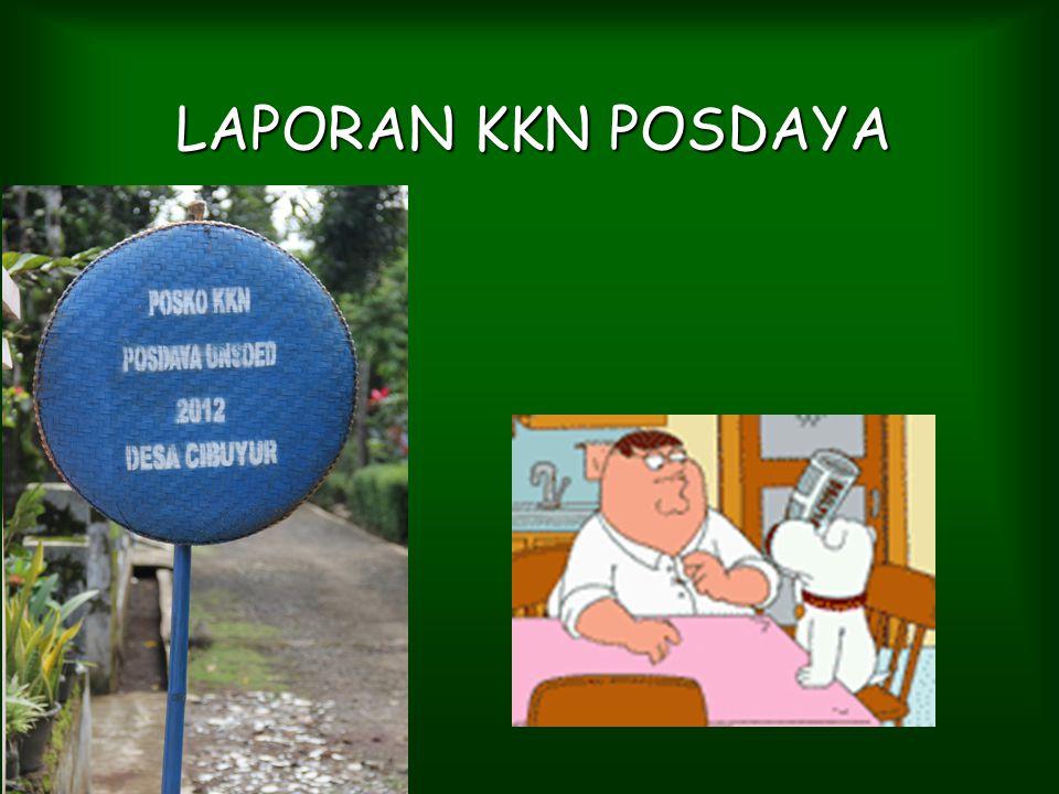 LAPORAN KKN POSDAYA