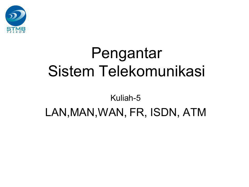 Pengantar Sistem Telekomunikasi Kuliah-5 LAN,MAN,WAN, FR, ISDN, ATM