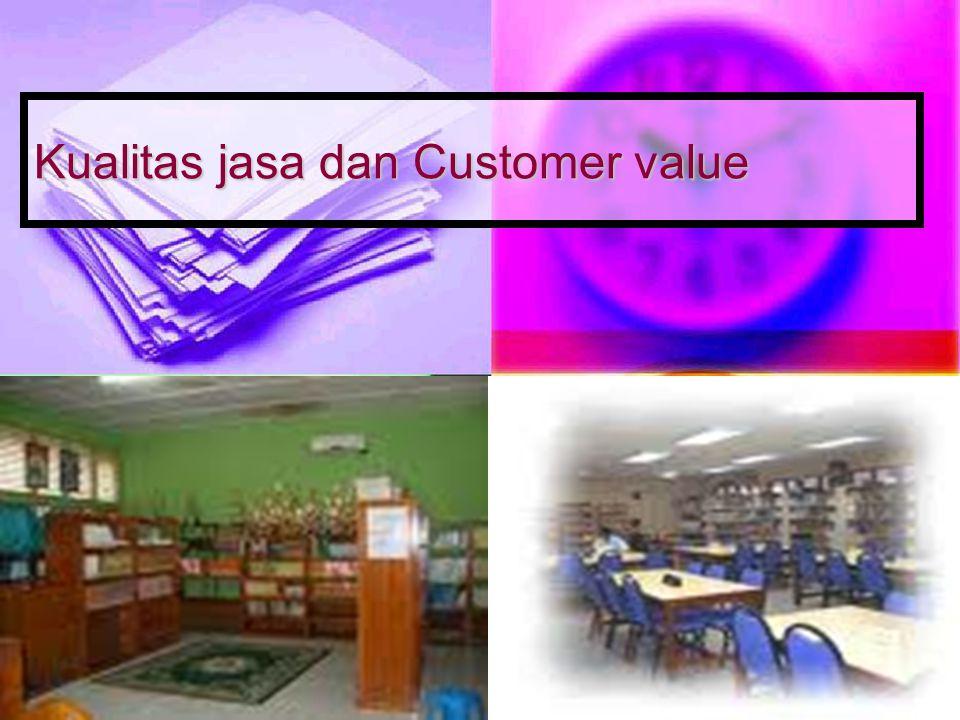Kualitas jasa dan Customer value