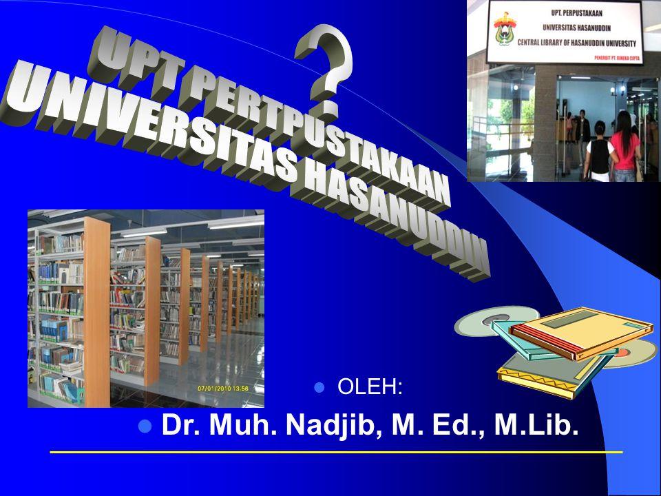OLEH: Dr. Muh. Nadjib, M. Ed., M.Lib.