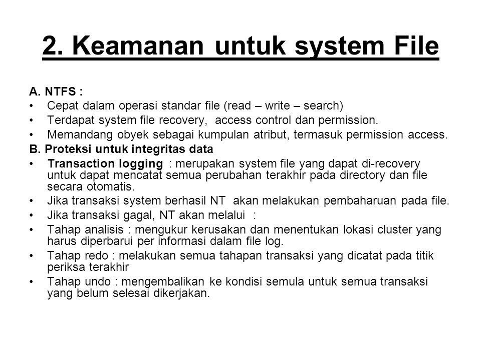 2.Keamanan untuk system File A.