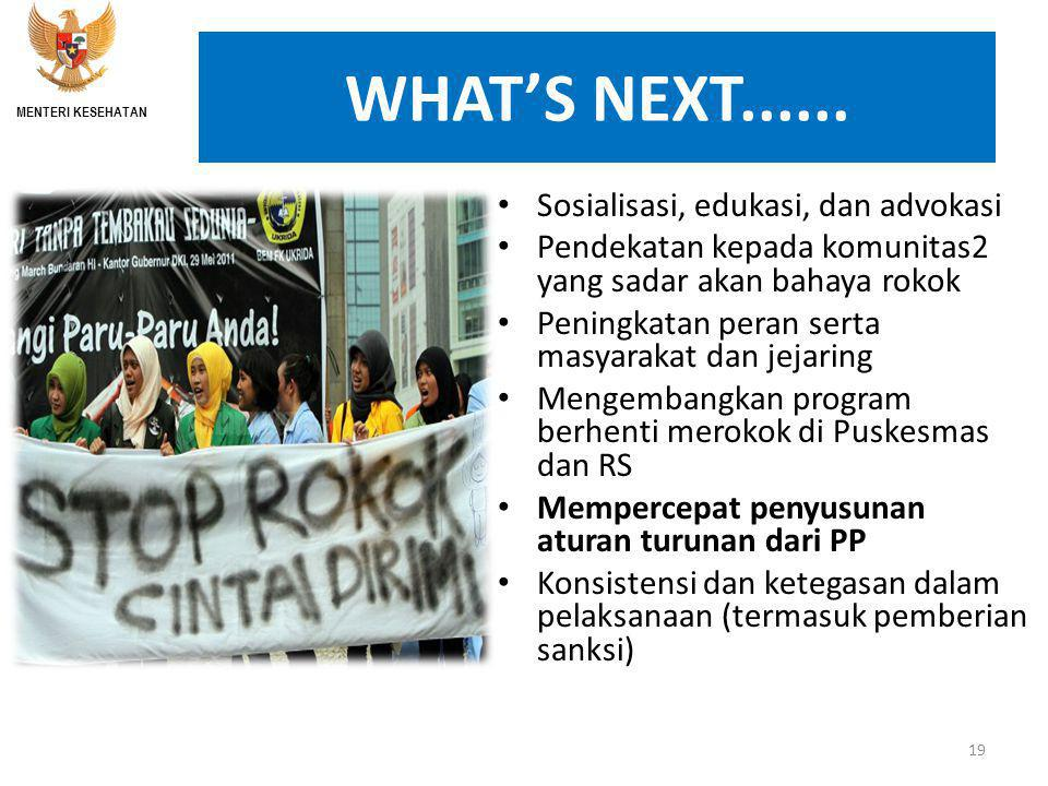 WHAT'S NEXT......