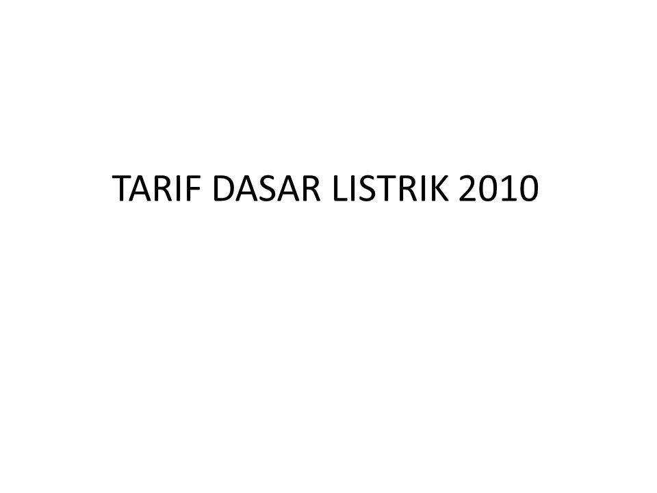 TARIF DASAR LISTRIK 2010