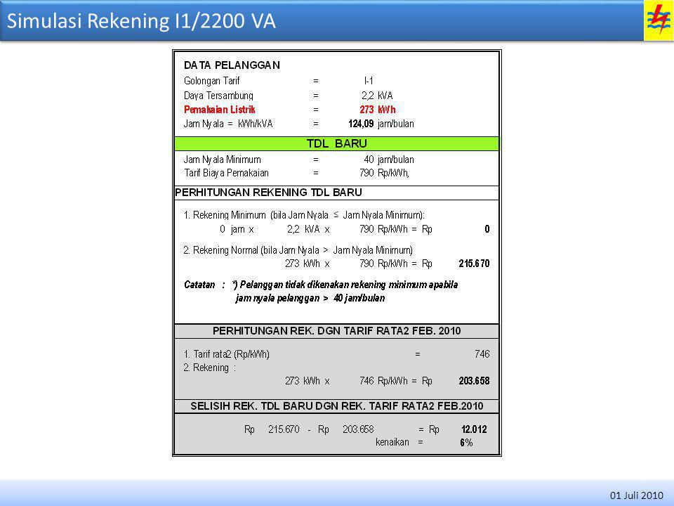 Simulasi Rekening I1/4400 VA 01 Juli 2010