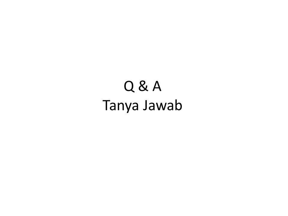 Q & A Tanya Jawab