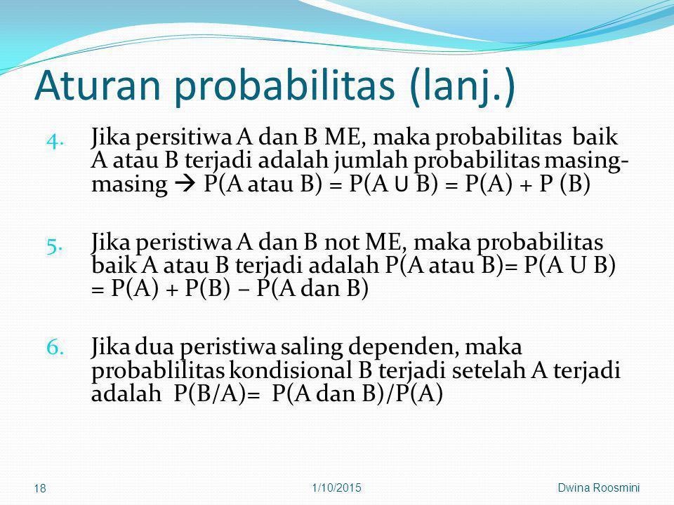 Aturan probabilitas (lanj.) 4.