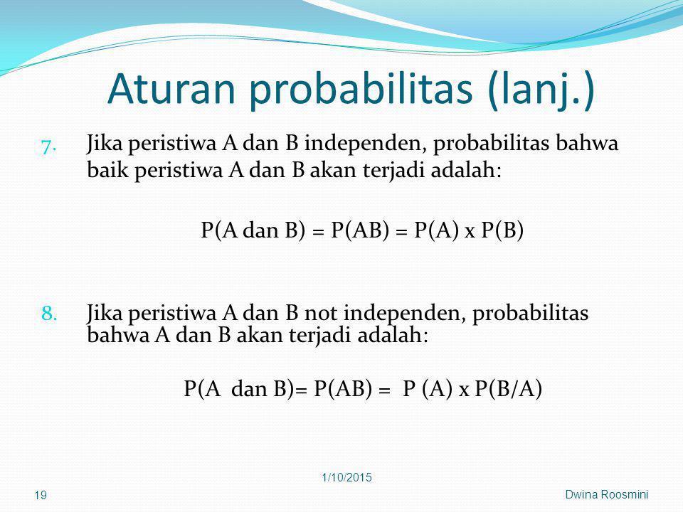 Aturan probabilitas (lanj.) 7.