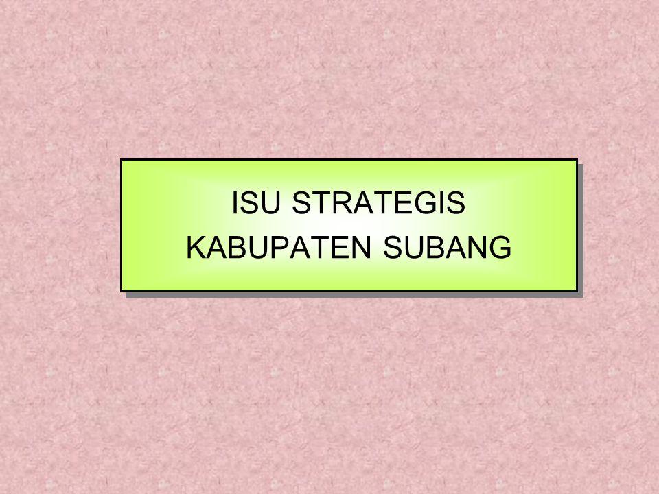 ISU STRATEGIS KABUPATEN SUBANG ISU STRATEGIS KABUPATEN SUBANG