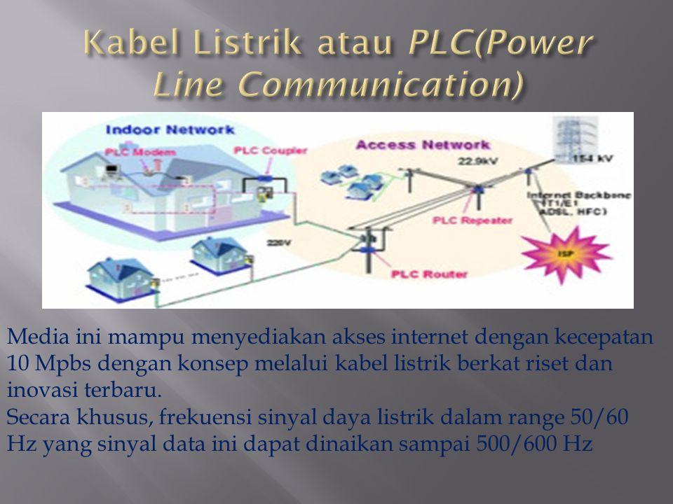 Media ini mampu menyediakan akses internet dengan kecepatan 10 Mpbs dengan konsep melalui kabel listrik berkat riset dan inovasi terbaru. Secara khusu