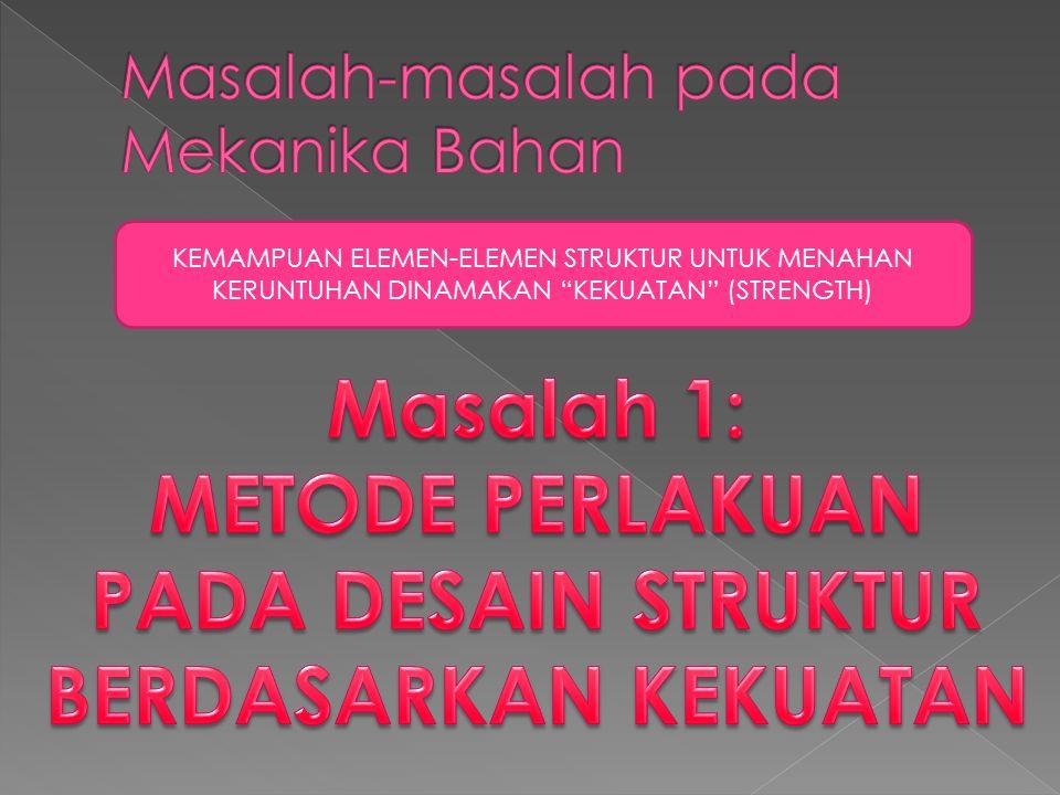 KEMAMPUAN ELEMEN-ELEMEN STRUKTUR UNTUK MENAHAN KERUNTUHAN DINAMAKAN KEKUATAN (STRENGTH)