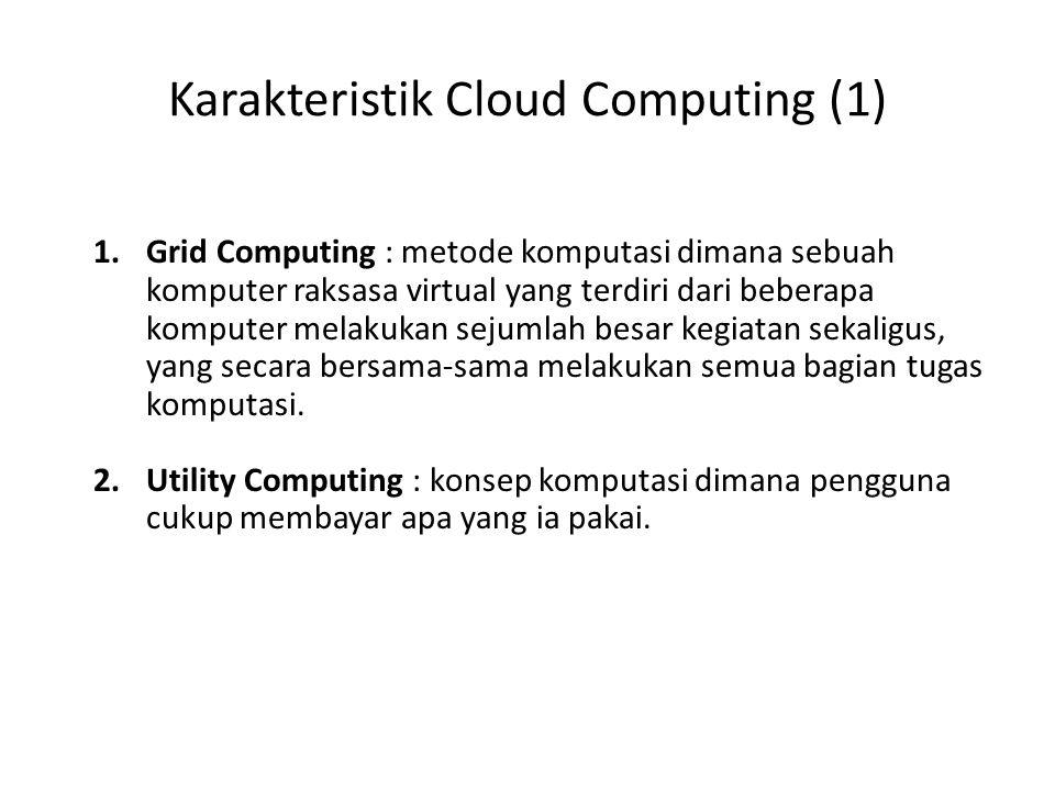 1.Grid Computing : metode komputasi dimana sebuah komputer raksasa virtual yang terdiri dari beberapa komputer melakukan sejumlah besar kegiatan sekaligus, yang secara bersama-sama melakukan semua bagian tugas komputasi.