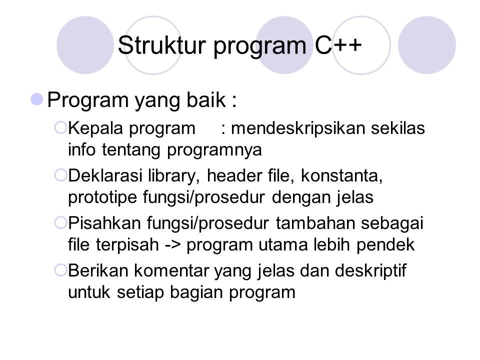 /* titel : tes c++ untuk interface author : xxx tgl :...