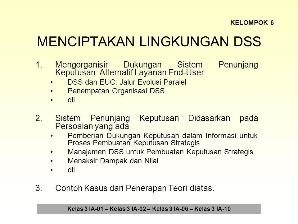 MENCIPTAKAN LINGKUNGAN DSS 4.