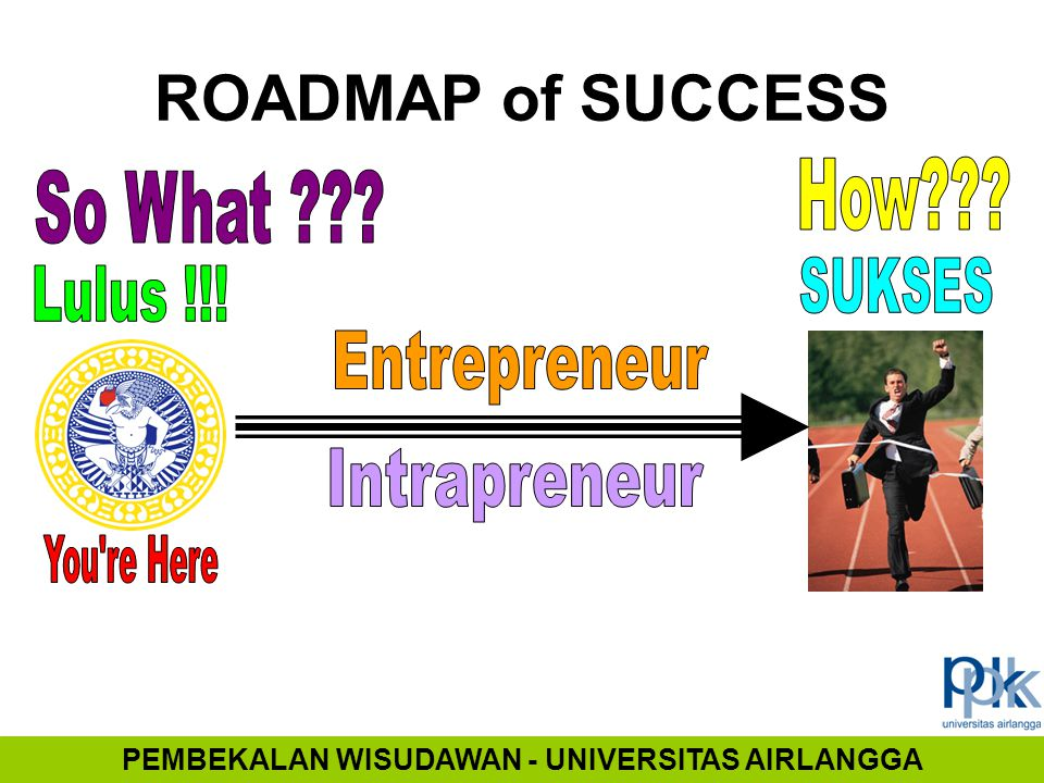 ROADMAP of SUCCESS PEMBEKALAN WISUDAWAN - UNIVERSITAS AIRLANGGA