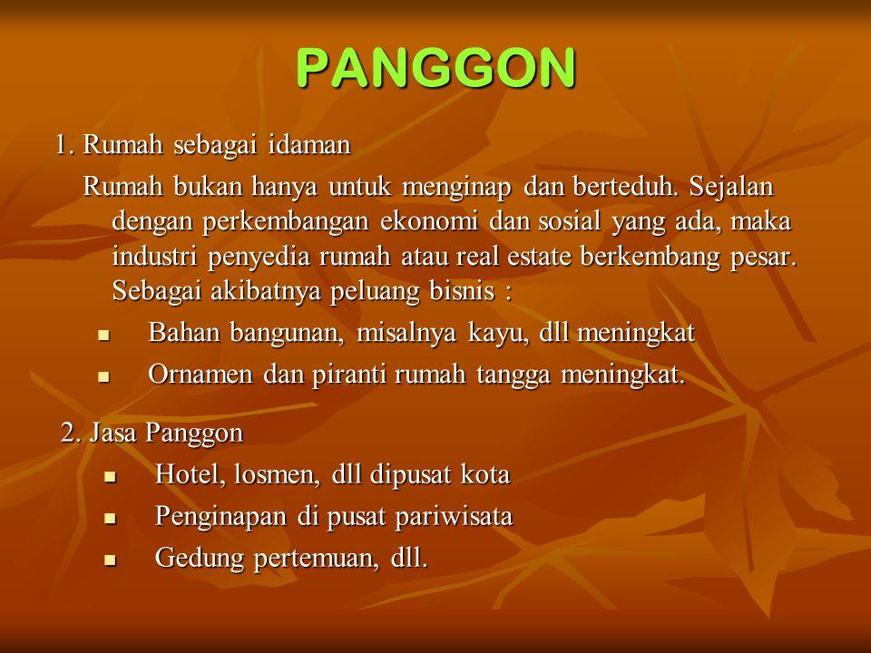 PANGGON 1.Rumah sebagai idaman Rumah bukan hanya untuk menginap dan berteduh.