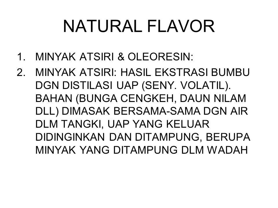 sebutkan Senyawa: flavor sintetis dari isolasi flavor alami yang sdr kenal/ketahui Sebutkan jenis senyawa coolants dan mengapa senyawa tsb bisa memberikan rasa cool pada tenggorokan.