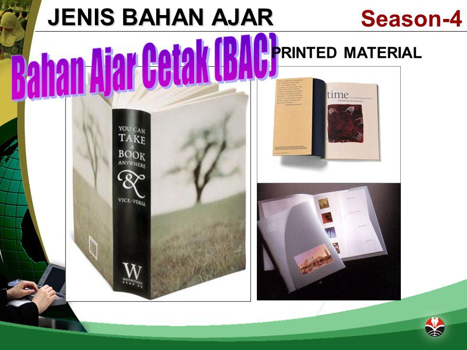 Season-4 JENIS BAHAN AJAR PRINTED MATERIAL