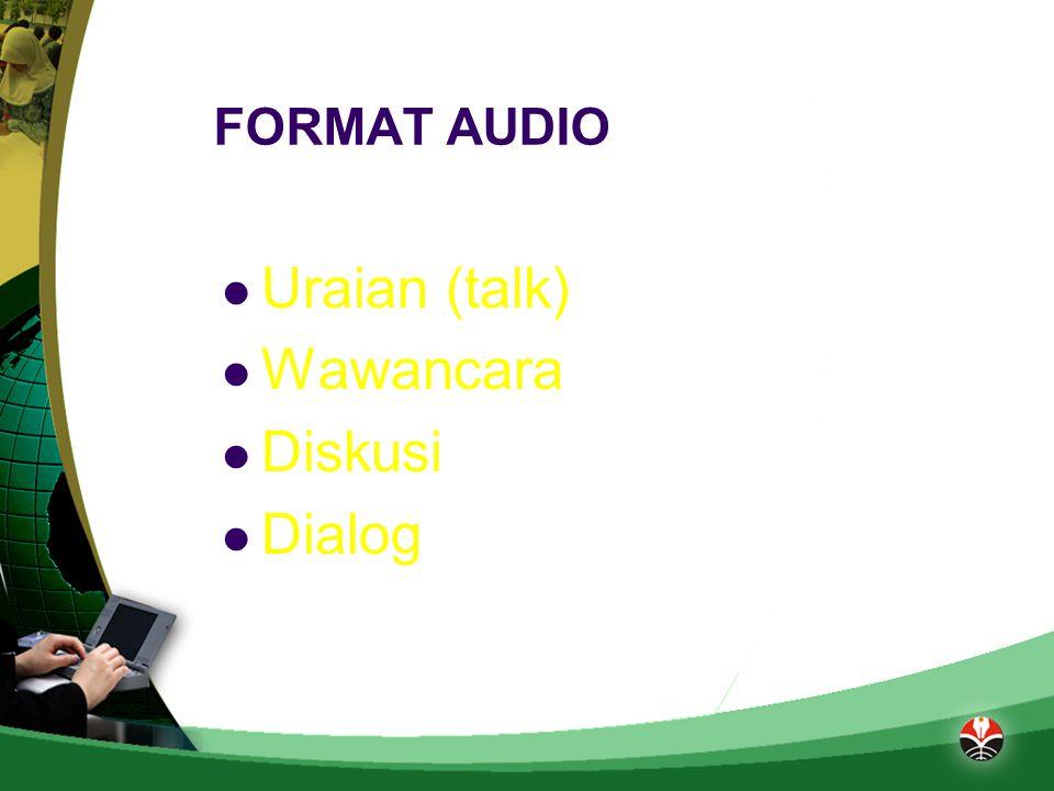 BAHAN AJAR AUDIO Memiliki fungsi ganda yaitu untuk merekam, menampilkan rekaman, dan menghapusnya.