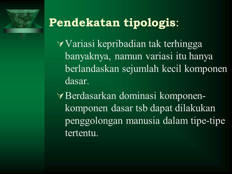  Jenis-jenis teori tipologis: a.Tipologi berdasar konstitusi b.