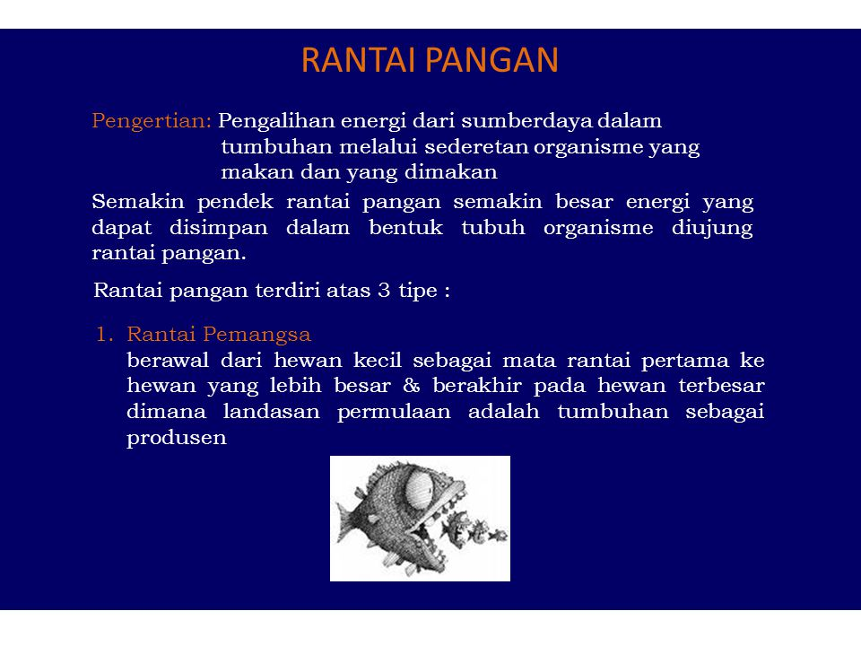 Energi : Kemampuan untuk melakukan kerja Bentuk energi yang berperan penting pada makhluk hidup: energi mekanik, kimia, radiasi, dan panas Perilaku en