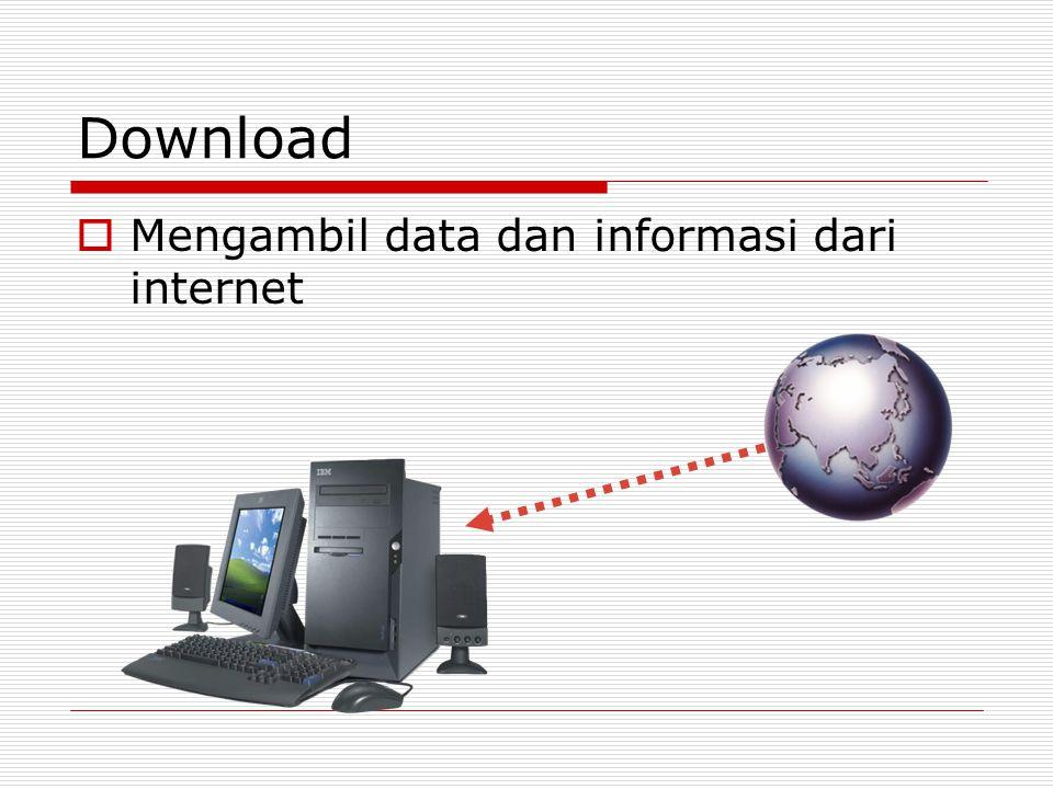 Download  Mengambil data dan informasi dari internet