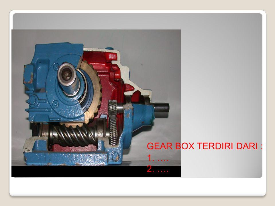 GEAR BOX TERDIRI DARI : 1.…. 2.….