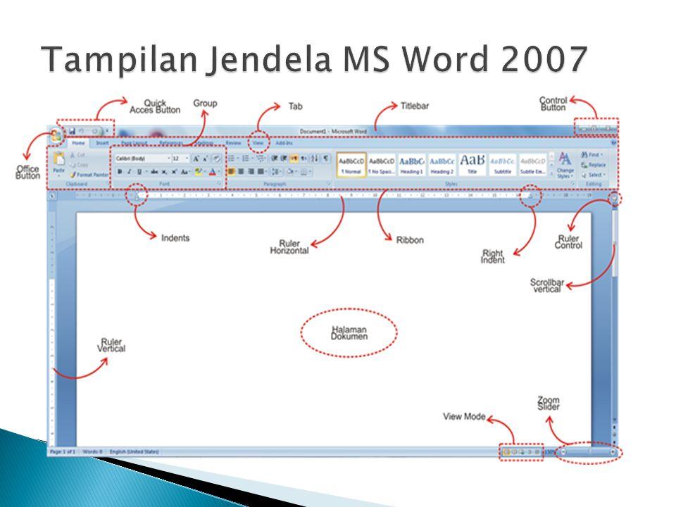 Nama Icon Keterangan Newdigunakan untuk membuat file dokumen kosong baru Open digunakan untuk membuka file dokumen yang tersimpan Saveperintah untuk menyimpan file dokumen aktif Save As digunakan untuk menyimpan file dokumen ke dalam format tertentu Print digunakan untuk mencetak file dokumen yang sedang aktif Prepare digunakan untuk melakukan properti khusus terhadap file dokumen aktif Send digunakan untuk mengirimkan file dokumen aktif sebagai email / faksimile Publish perintah untuk menerbitkan dokumen aktif ke website / blog / dll Closedigunakan untuk menutup file dokumen aktif
