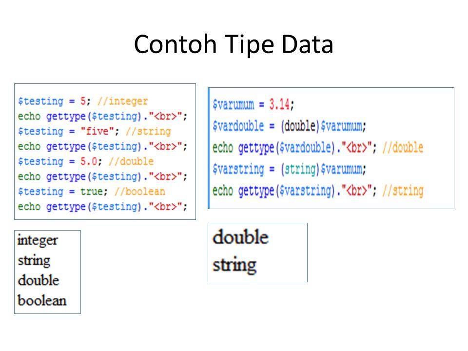 Contoh Tipe Data