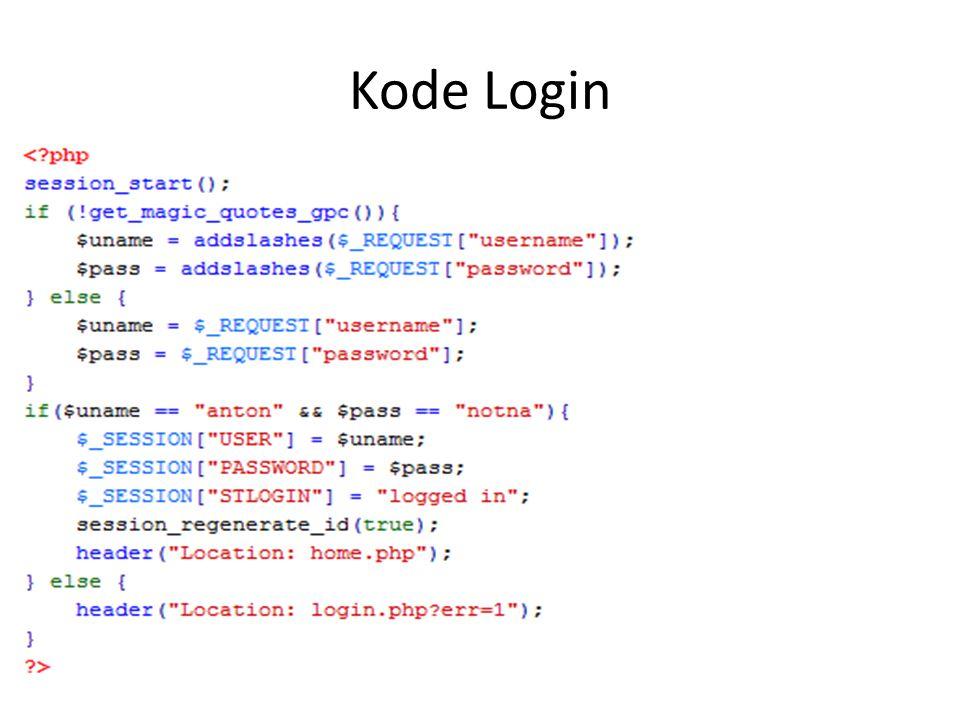 Kode Login