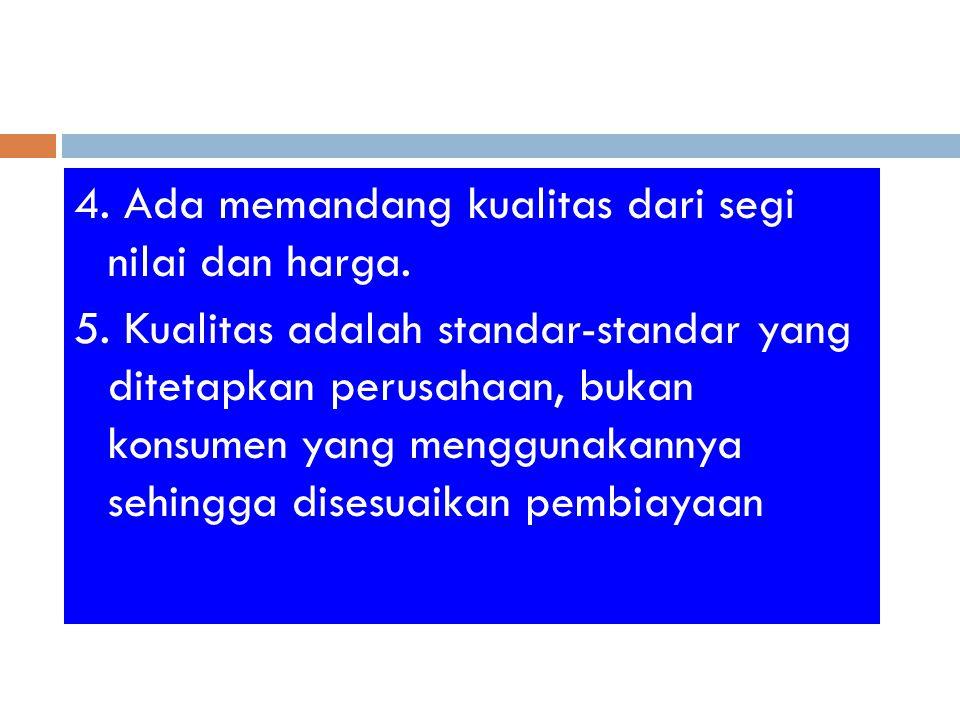4.Ada memandang kualitas dari segi nilai dan harga.