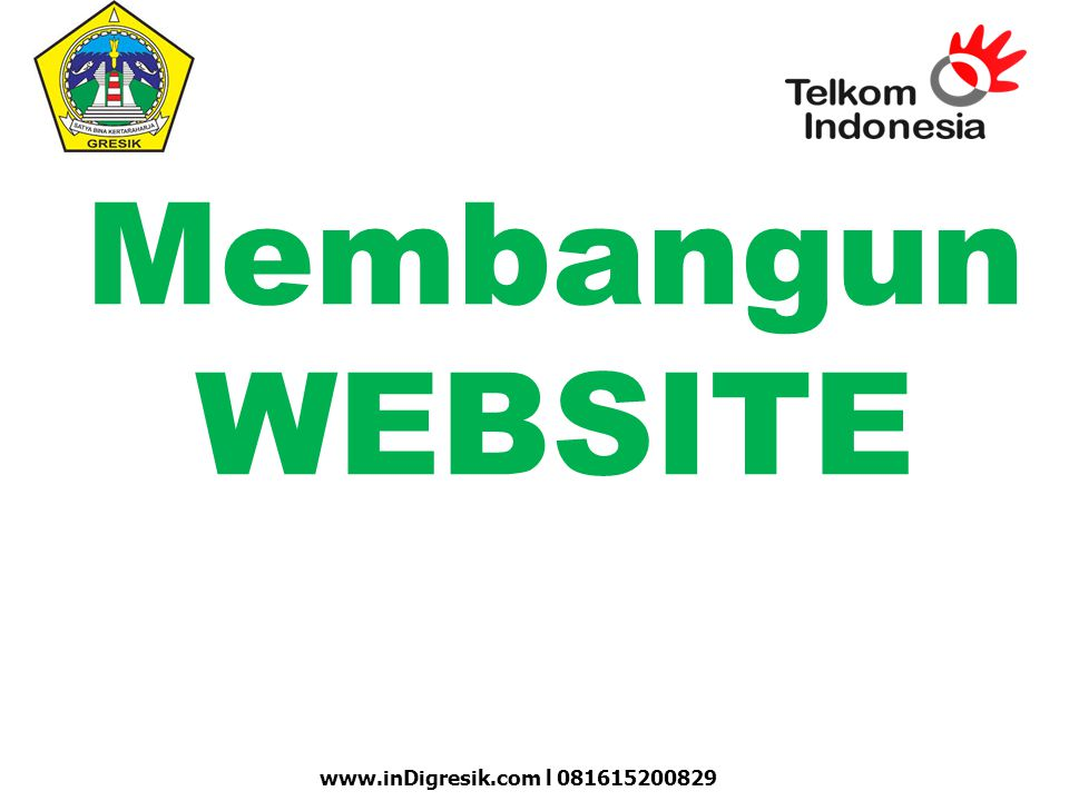 Membangun WEBSITE www.inDigresik.com l 081615200829