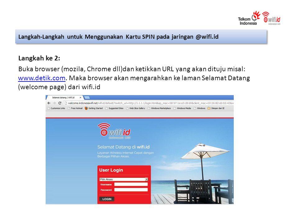 Langkah ke 2: Buka browser (mozila, Chrome dll)dan ketikkan URL yang akan dituju misal: www.detik.com.