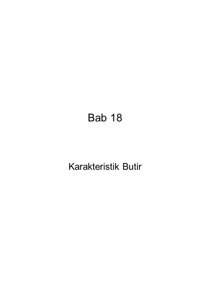 Bab 18 Karakteristik Butir