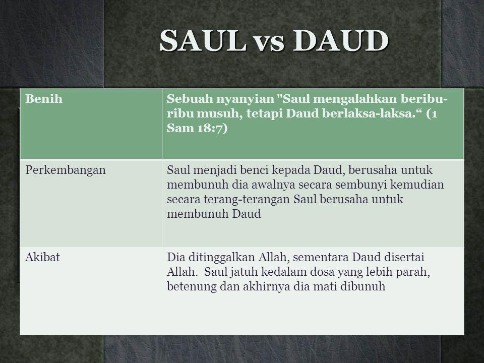 SAUL vs DAUD BenihSebuah nyanyian