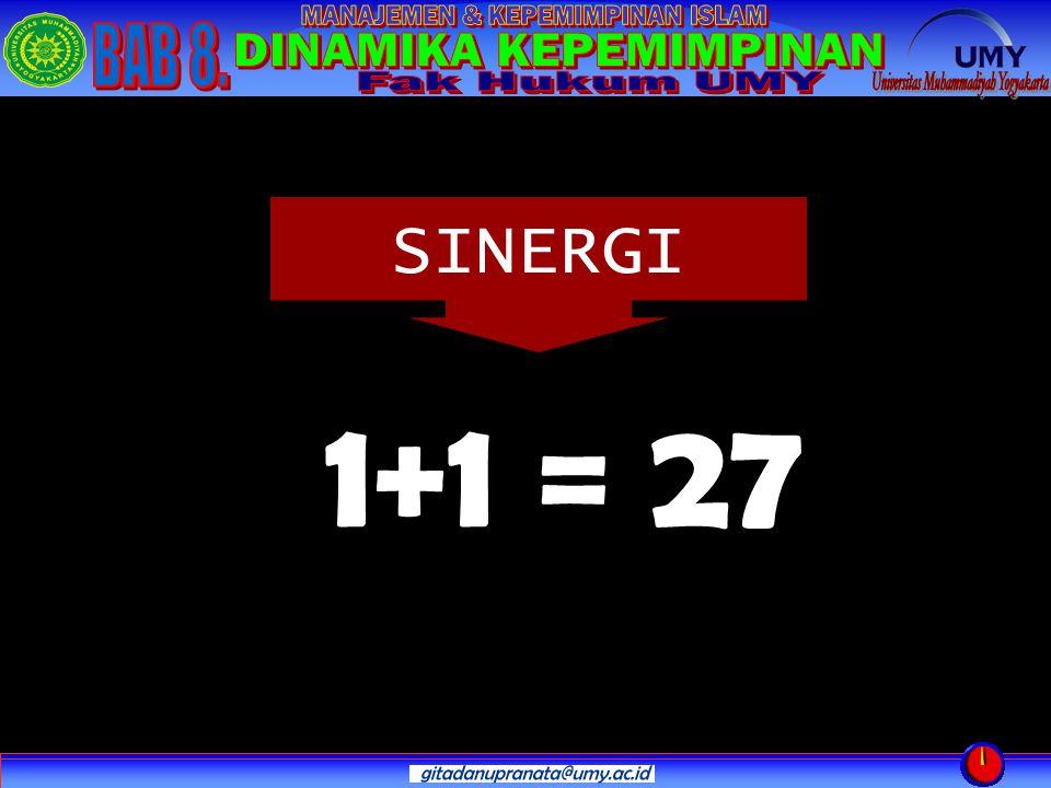 SINERGI 1+1 = 27