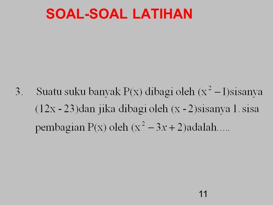 SOAL-SOAL LATIHAN 10