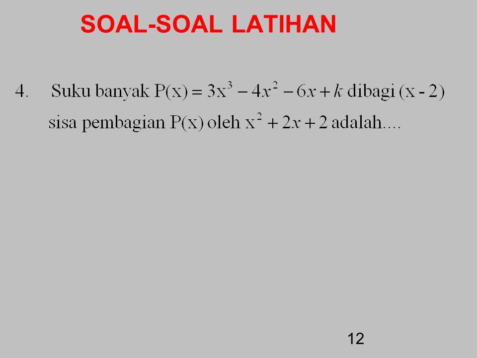 SOAL-SOAL LATIHAN 11