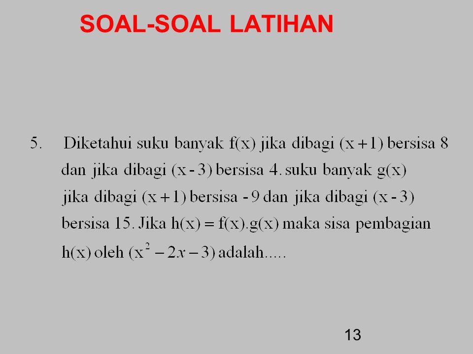SOAL-SOAL LATIHAN 12