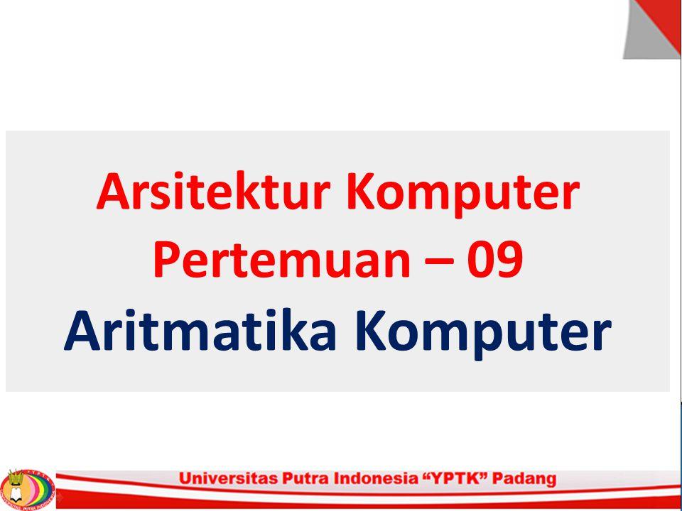 Aritmatika Komputer For a 32 bit number * 8 bit exponent * +/- 2256  1.5 x 1077 Accuracy * The effect of changing lsb of mantissa * 23 bit mantissa 2-23  1.2 x 10-7 * About 6 decimal places Range pada Floting Point