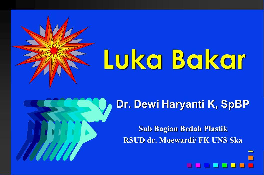 Dr. Dewi Haryanti K, SpBP Sub Bagian Bedah Plastik RSUD dr. Moewardi/ FK UNS Ska Luka Bakar