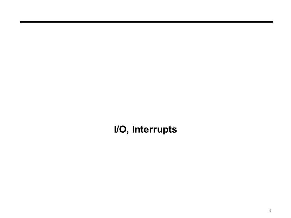 14 I/O, Interrupts