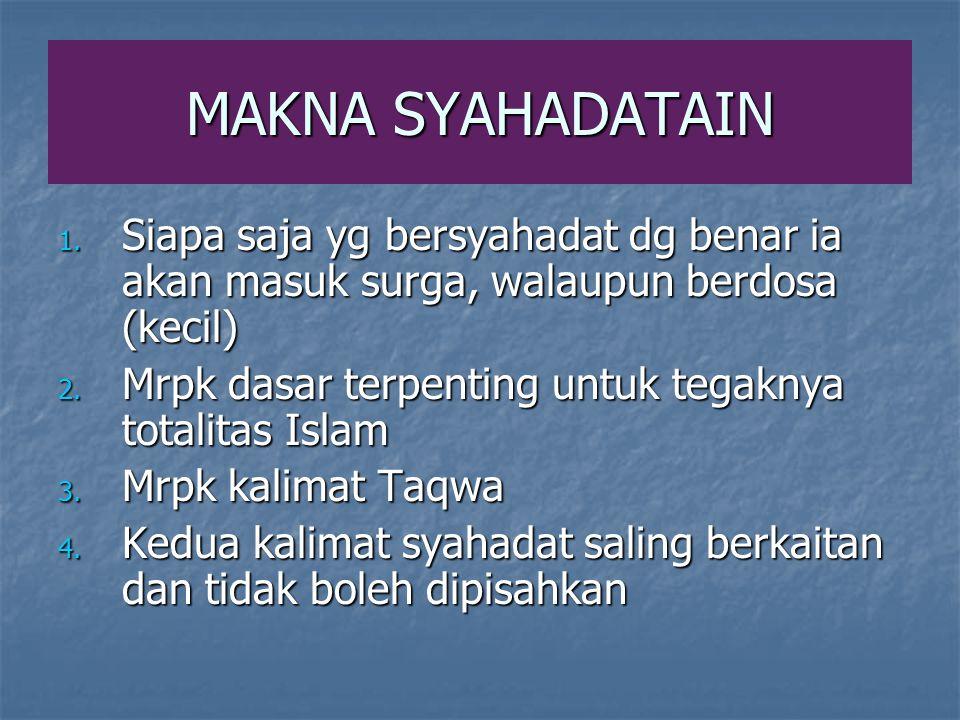 MAKNA SYAHADATAIN 1.