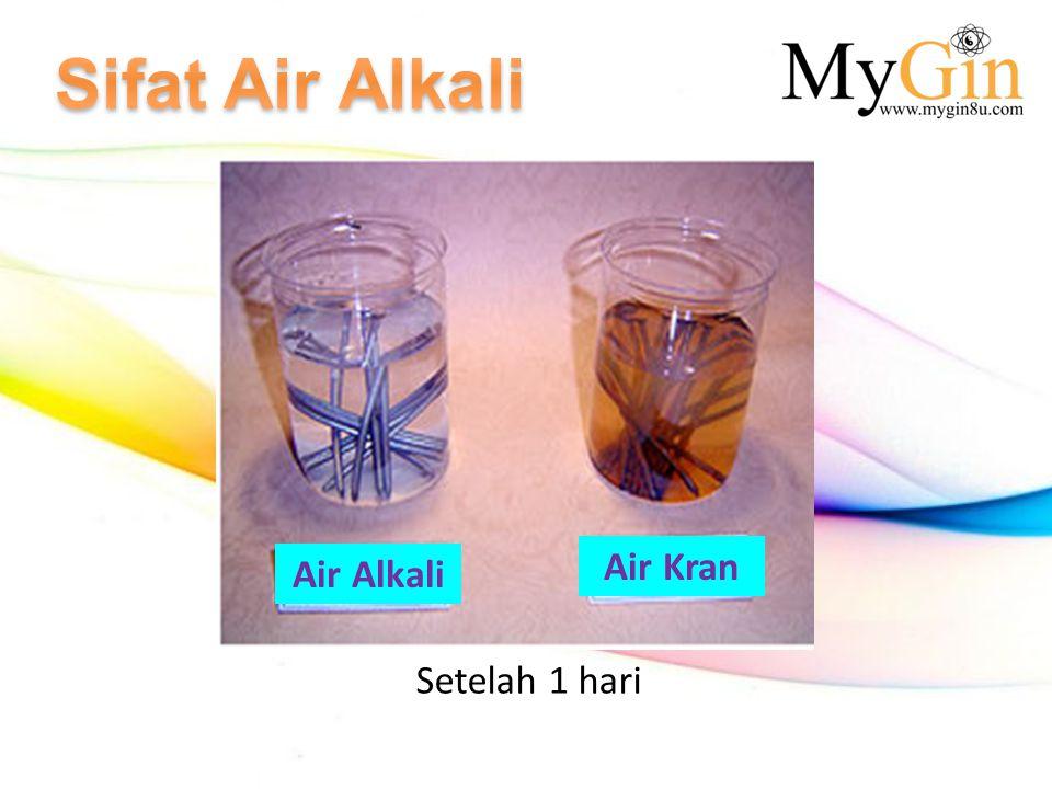 Setelah 1 hari Air Alkali Air Kran