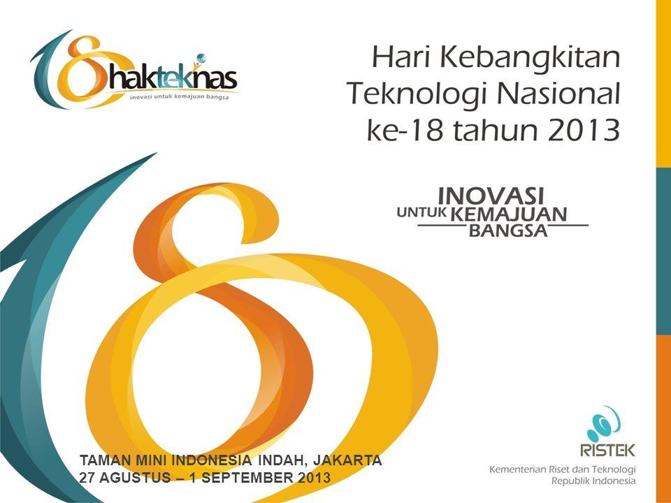 SUSUNAN ACARA PUNCAK WaktuUraianKeterangan 123 09.30 – 10.00RegistrasiSekretariat 10.00 – 10.30Pra-Kondisi peserta di dalam Ged Sasana UtomoPanitia 10.30Presiden memasuki ruang upacara 10.30 – 10.35Lagu Indonesia RayaPaduan Suara Paragita UI 10.35 – 10.45Laporan Penyelenggaraan HakteknasMenristek, Gusti Muhammad Hatta 10.45 – 10.50Lagu Mars IptekPaduan Suara Paragita UI 10.50 – 10.55Penandatangan MOU dan kontrak Alutsista antara Kementerian Pertahanan dan PT DI,BPPT, Kemhan, PT DI 10.55 – 11.03Penyerahan Anugerah IptekMenristek, Gusti Muhammad Hatta 11.03 – 11.05Penyerahan buku 18 Karya Unggulan Teknologi Anak Bangsa kepada Presiden RI Menristek, Gusti Muhammad Hatta 11.05 – 11.40Sambutan Presiden dilanjutkan dengan Penekanan tombol sebagai tanda peluncuran 24 unit roket R-Han 122 dr Pamengpeuk.
