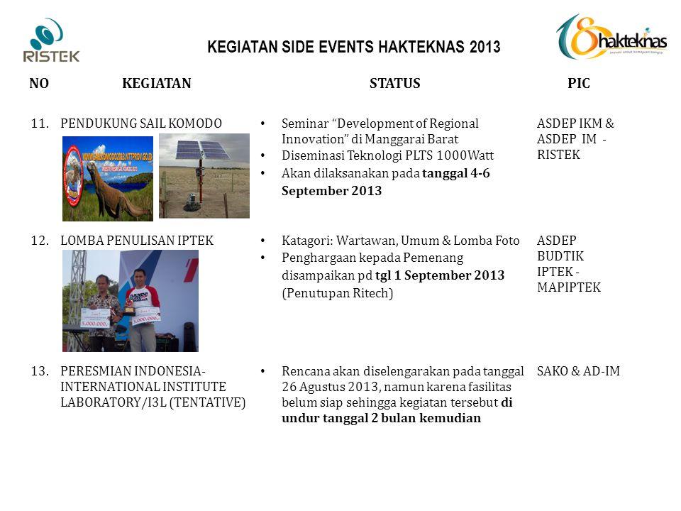 """NOKEGIATANSTATUSPIC 11.PENDUKUNG SAIL KOMODO Seminar """"Development of Regional Innovation"""" di Manggarai Barat Diseminasi Teknologi PLTS 1000Watt Akan d"""