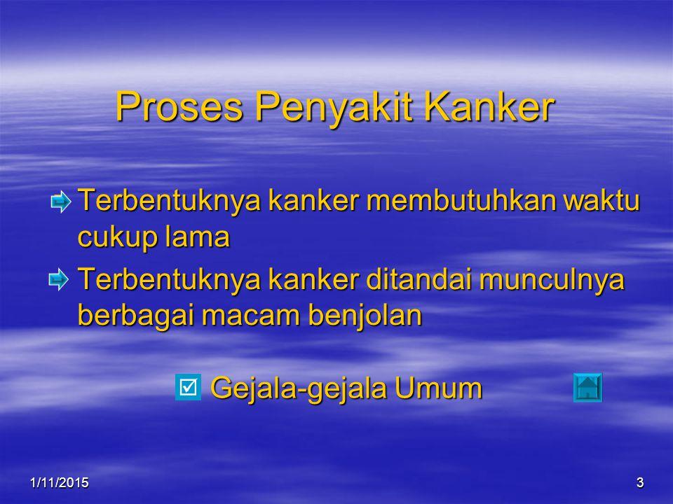 1/11/20154 Gejala-gejala Kanker  Kanker Payudara  Kanker Prostat  Kanker Rahim